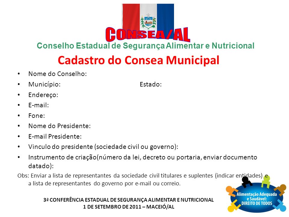 Cadastro do Consea Municipal