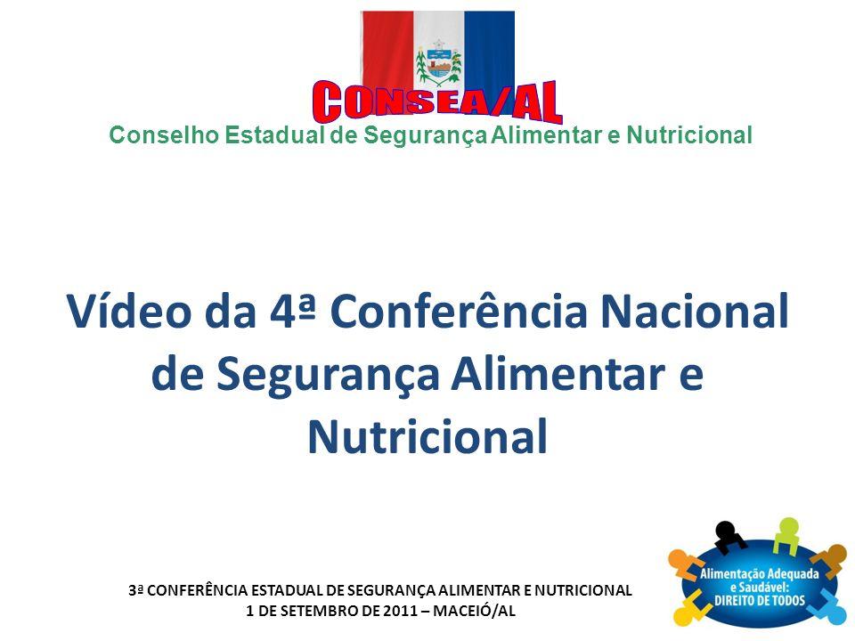 Vídeo da 4ª Conferência Nacional de Segurança Alimentar e Nutricional