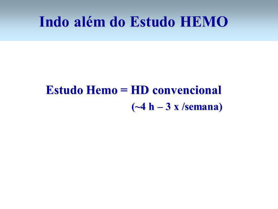 Indo além do Estudo HEMO Estudo Hemo = HD convencional