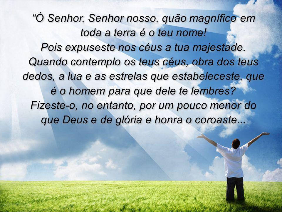Ó Senhor, Senhor nosso, quão magnífico em toda a terra é o teu nome!