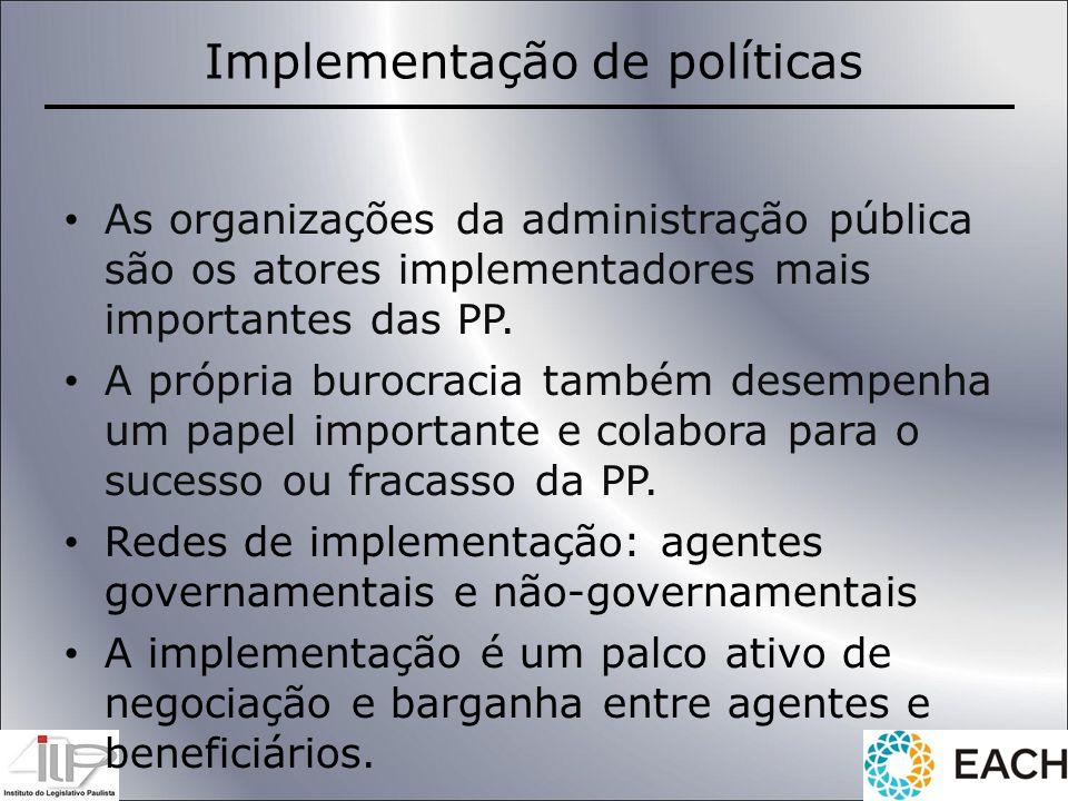 Implementação de políticas