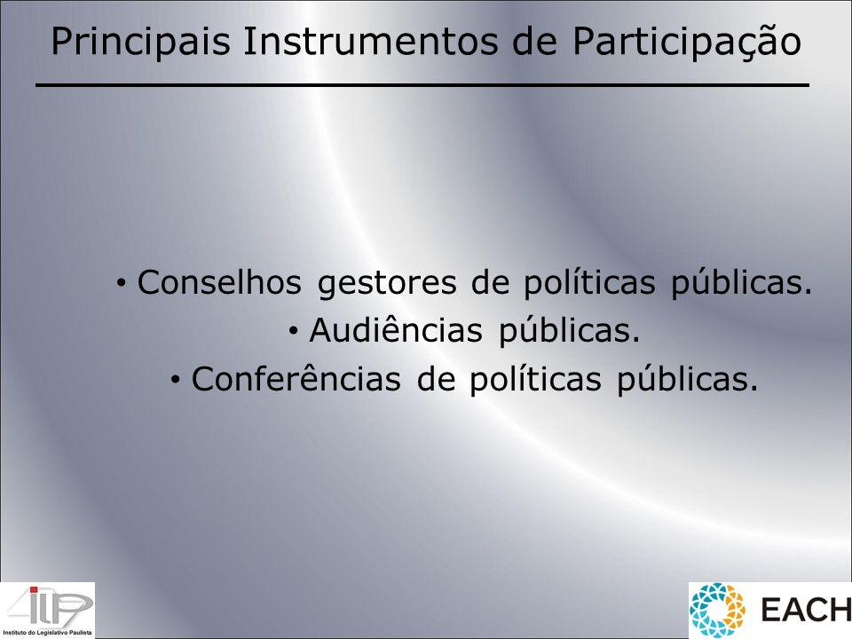 Principais Instrumentos de Participação