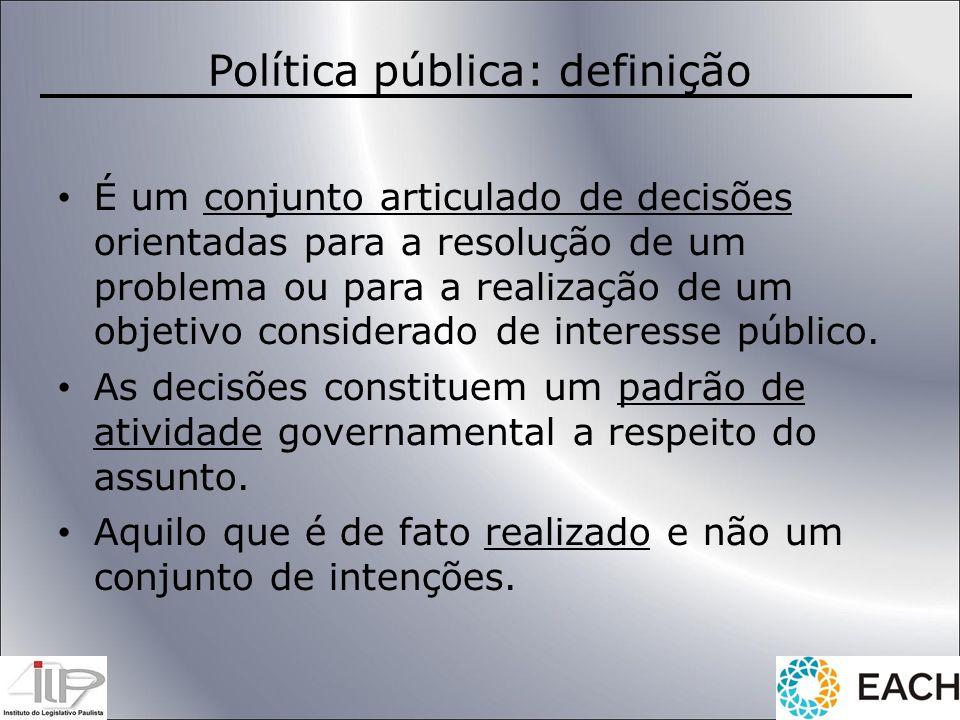 Política pública: definição