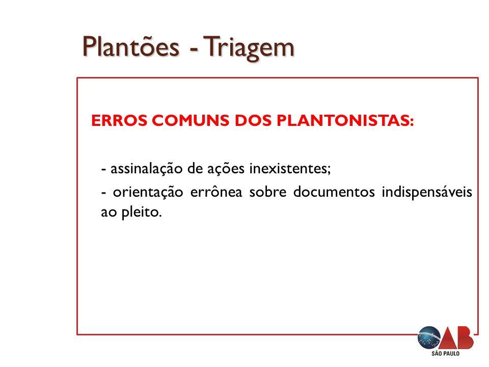 Plantões - Triagem