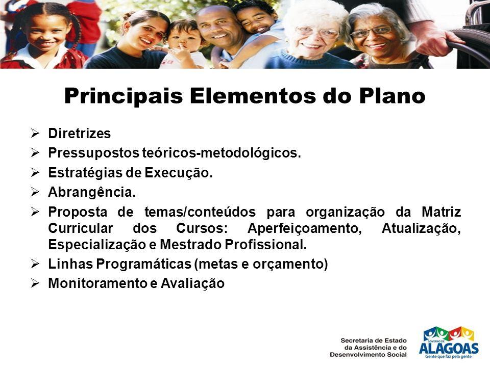 Principais Elementos do Plano