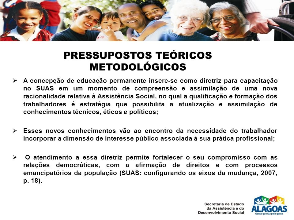 PRESSUPOSTOS TEÓRICOS METODOLÓGICOS