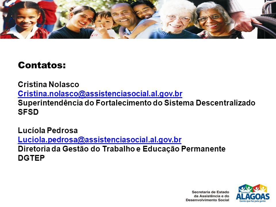 Contatos: Cristina Nolasco