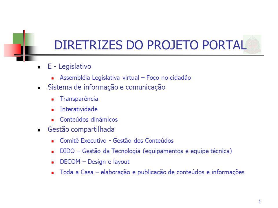 DIRETRIZES DO PROJETO PORTAL