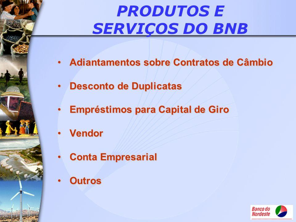 PRODUTOS E SERVIÇOS DO BNB