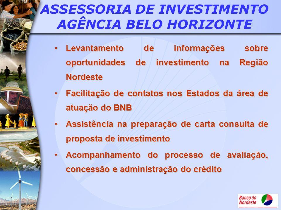 ASSESSORIA DE INVESTIMENTO AGÊNCIA BELO HORIZONTE