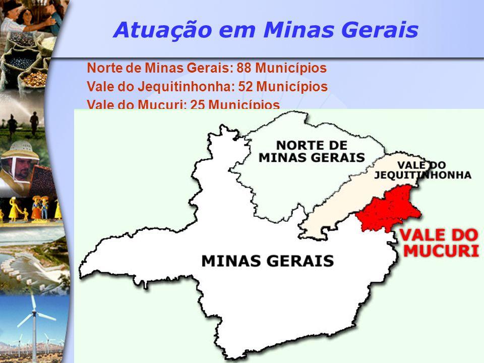 Atuação em Minas Gerais