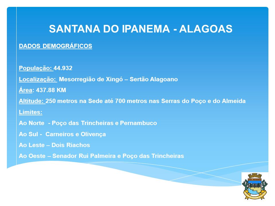 SANTANA DO IPANEMA - ALAGOAS