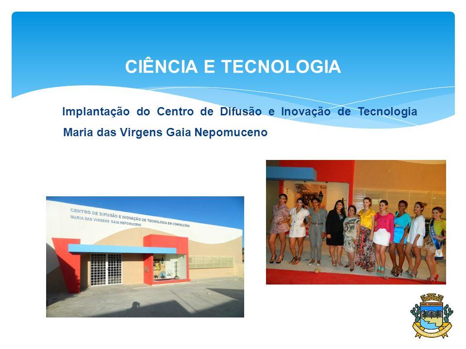CIÊNCIA E TECNOLOGIA Implantação do Centro de Difusão e Inovação de Tecnologia Maria das Virgens Gaia Nepomuceno.