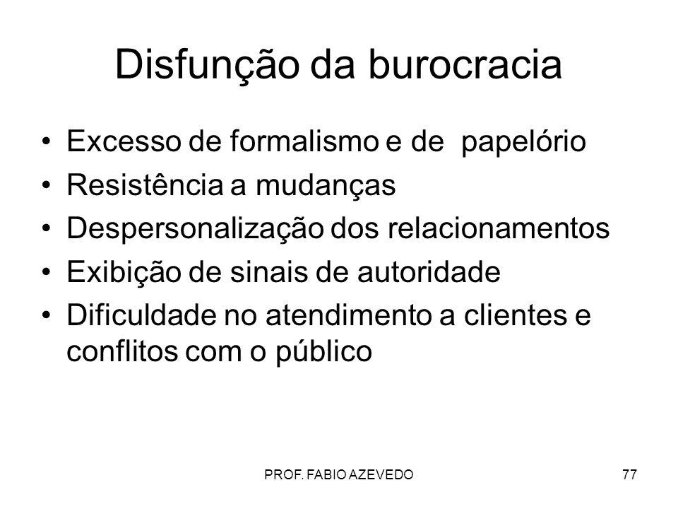 Disfunção da burocracia