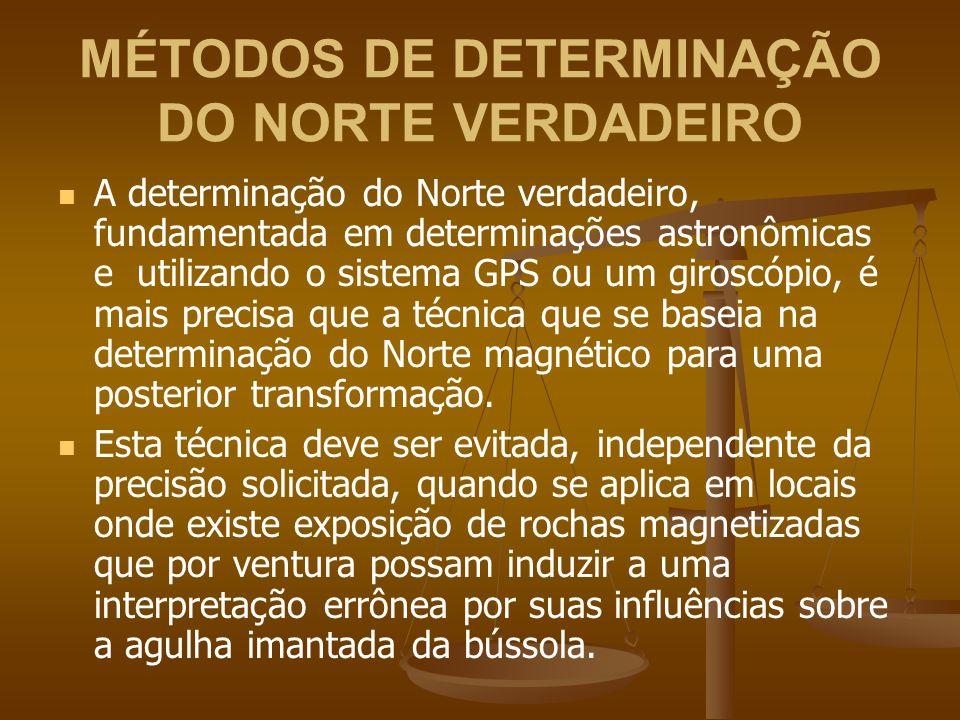 MÉTODOS DE DETERMINAÇÃO DO NORTE VERDADEIRO