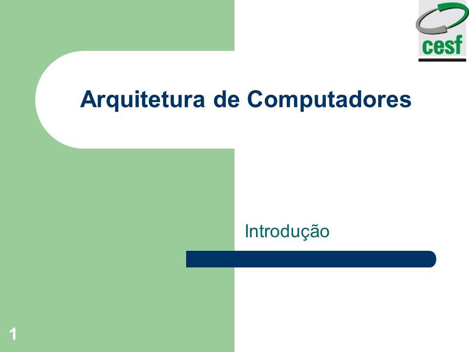 Arquitetura de Computadores