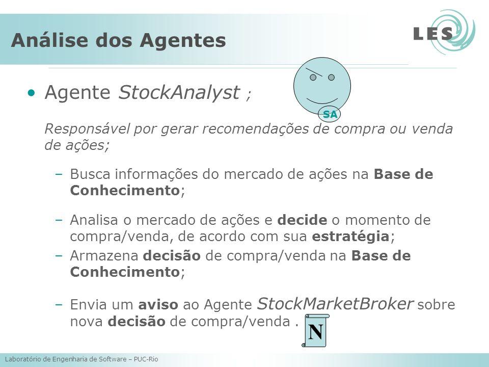 N Análise dos Agentes Agente StockAnalyst ;