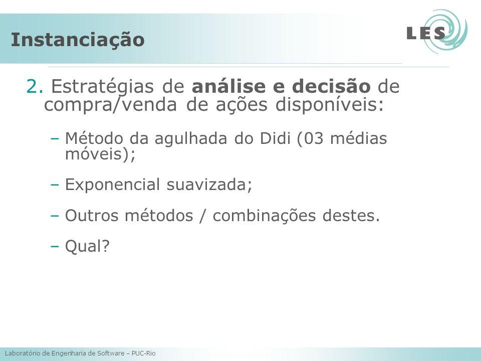 Instanciação2. Estratégias de análise e decisão de compra/venda de ações disponíveis: Método da agulhada do Didi (03 médias móveis);