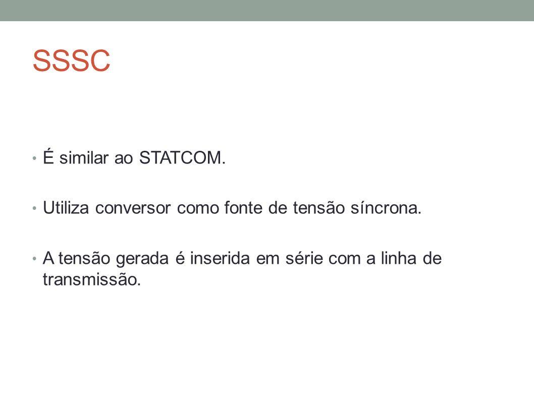 SSSC É similar ao STATCOM.