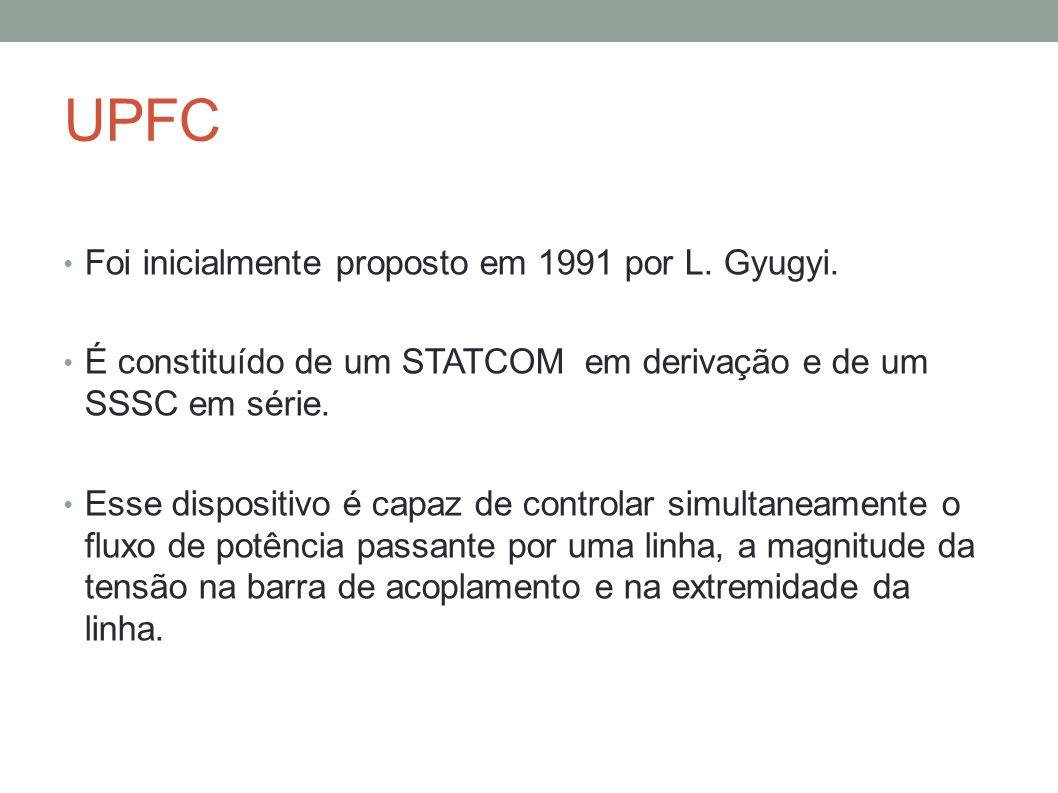 UPFC Foi inicialmente proposto em 1991 por L. Gyugyi.