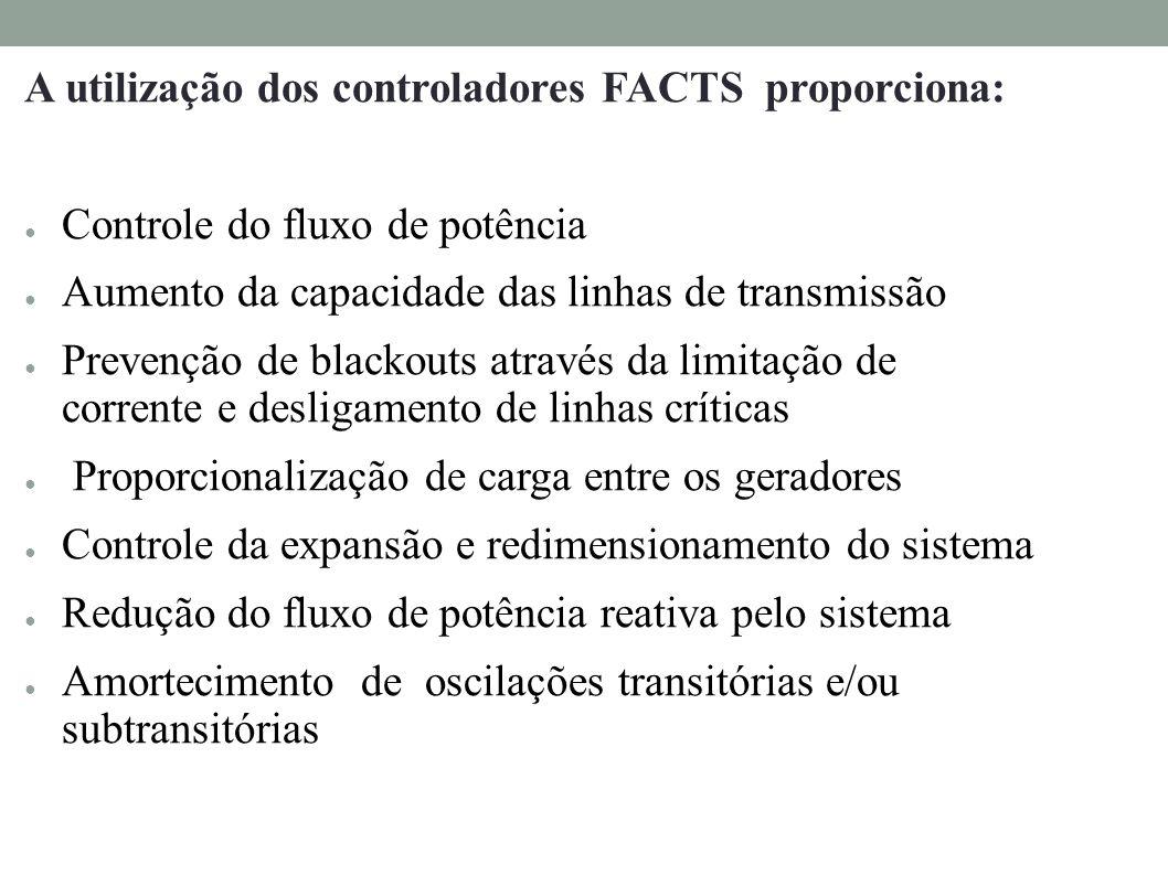 A utilização dos controladores FACTS proporciona: