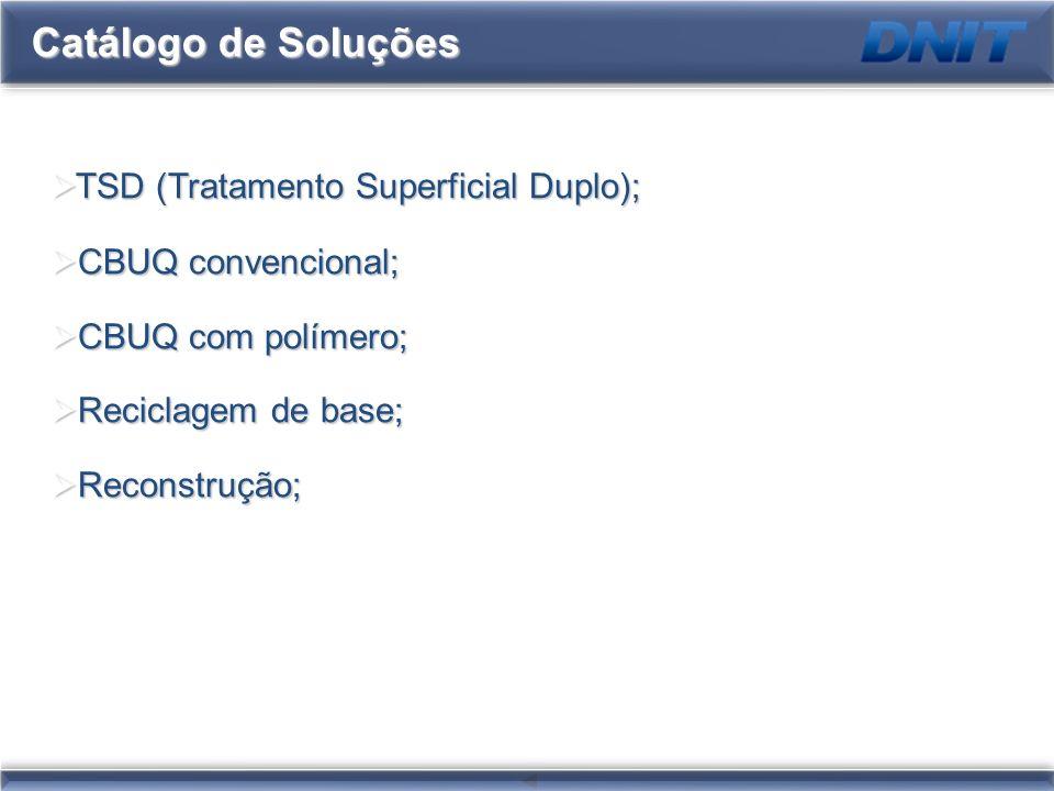 Catálogo de Soluções TSD (Tratamento Superficial Duplo);