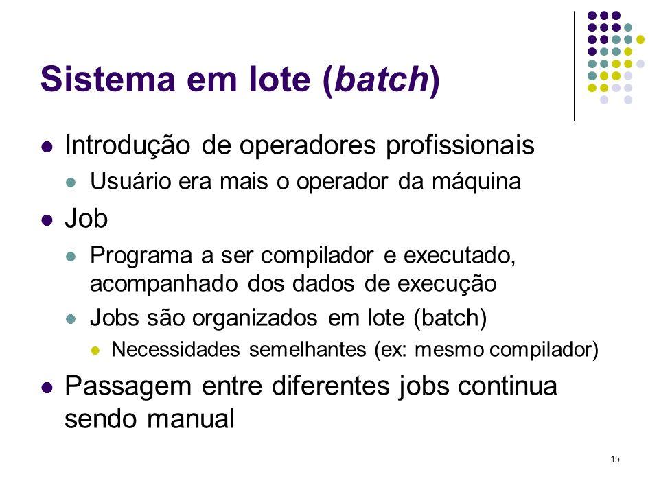 Sistema em lote (batch)