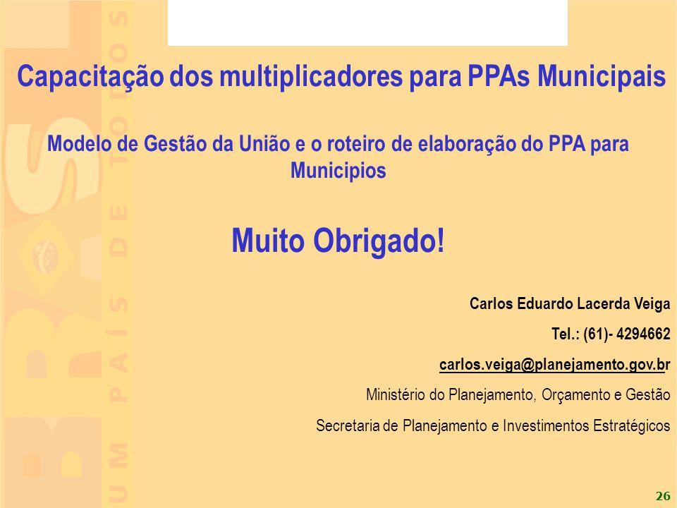 Capacitação dos multiplicadores para PPAs Municipais