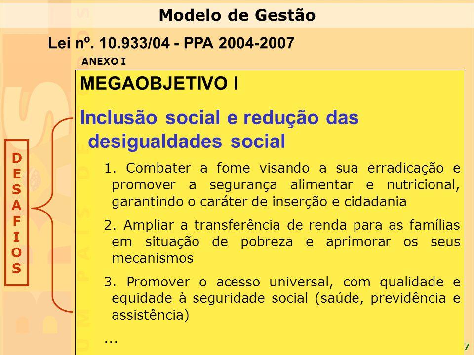 Inclusão social e redução das desigualdades social