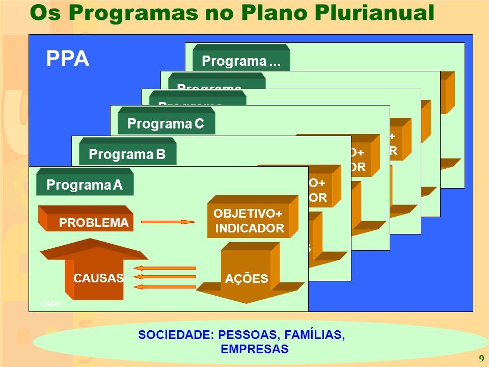 Os Programas no Plano Plurianual