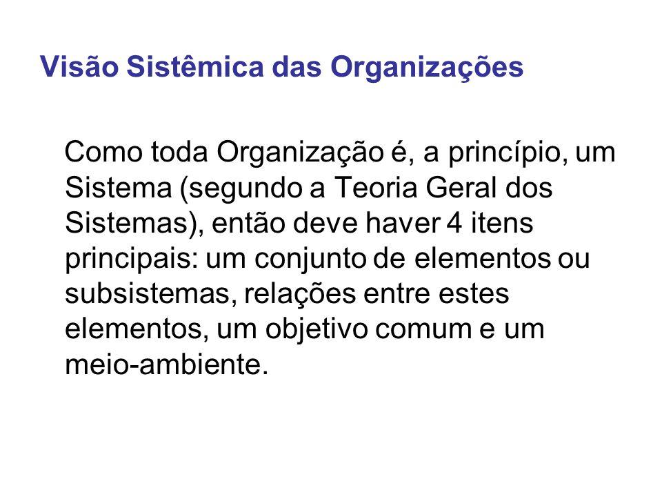 Visão Sistêmica das Organizações