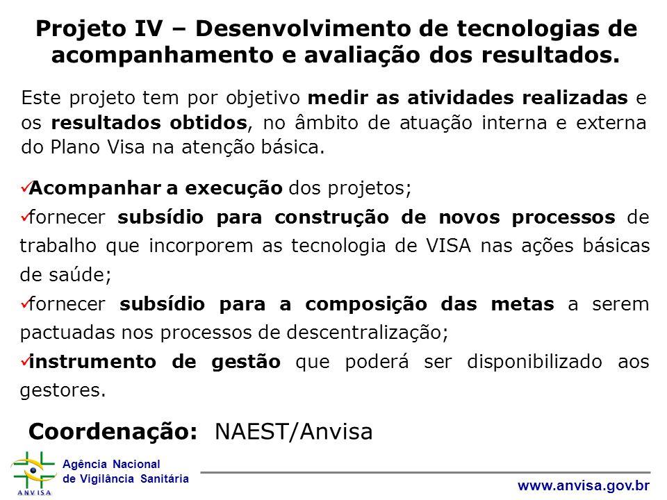Coordenação: NAEST/Anvisa