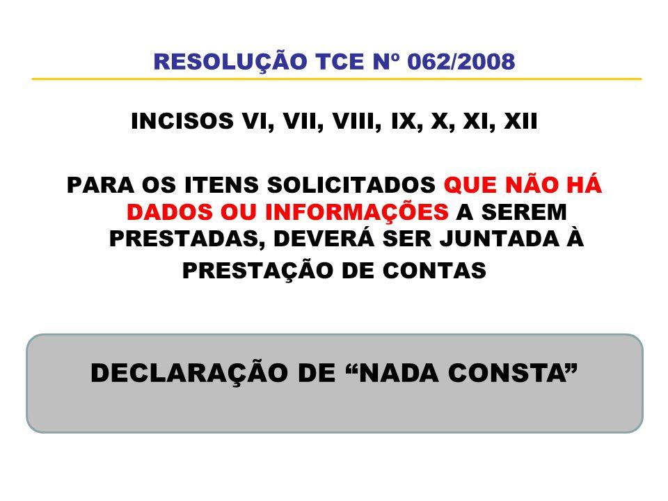 DECLARAÇÃO DE NADA CONSTA