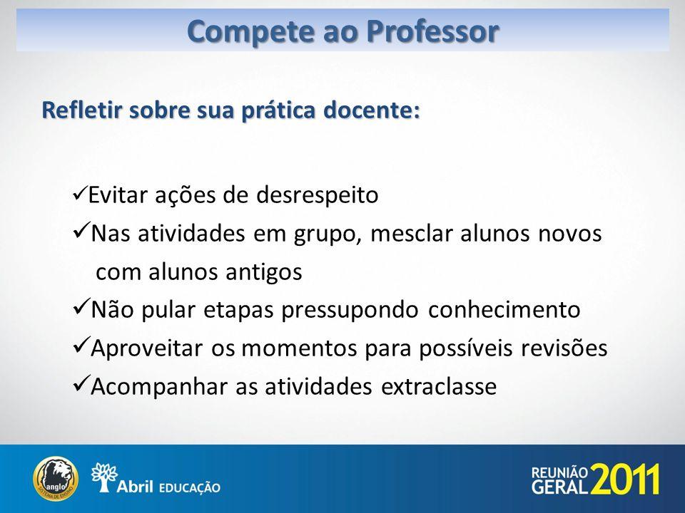 Compete ao Professor Refletir sobre sua prática docente: