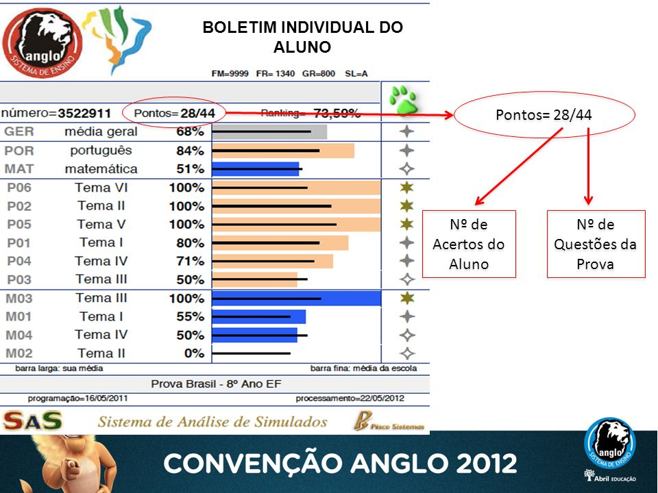 BOLETIM INDIVIDUAL DO ALUNO
