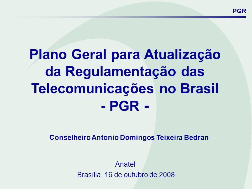 Plano Geral para Atualização da Regulamentação das
