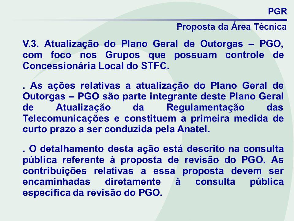 PGRProposta da Área Técnica.