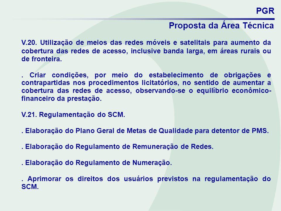 PGR Proposta da Área Técnica.