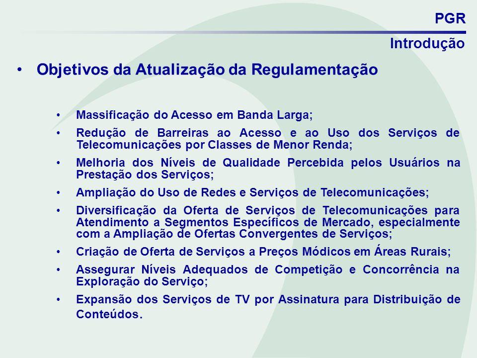 Objetivos da Atualização da Regulamentação