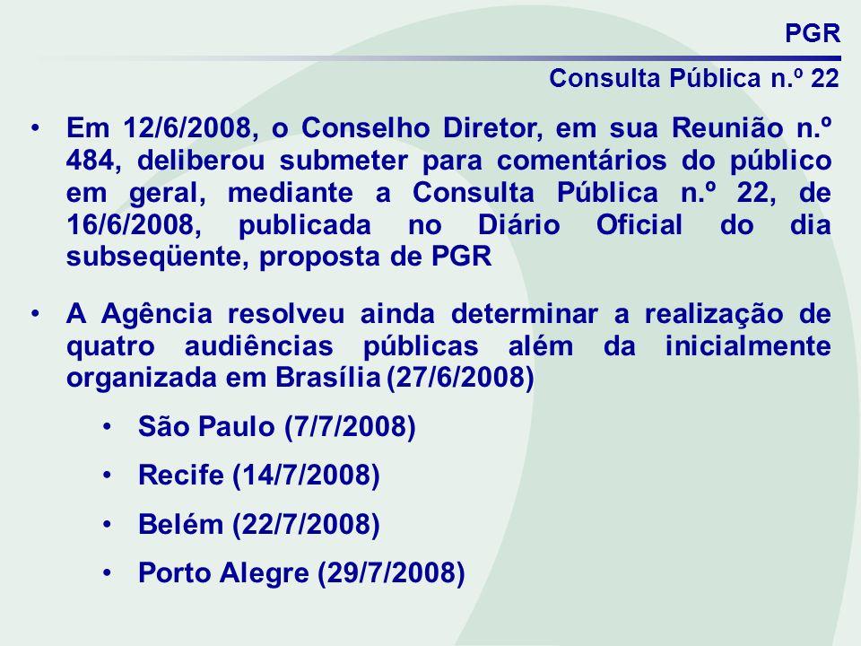 PGR Consulta Pública n.º 22.