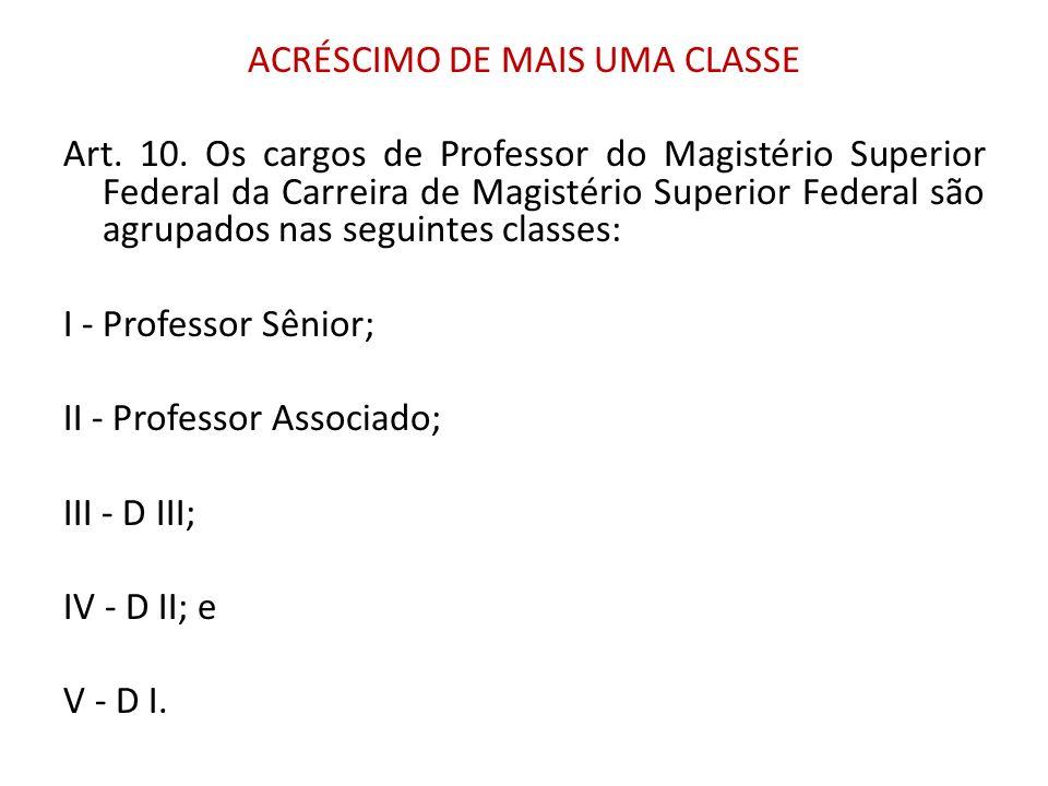 ACRÉSCIMO DE MAIS UMA CLASSE