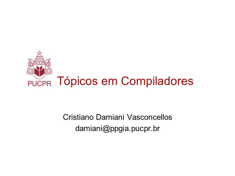 Tópicos em Compiladores