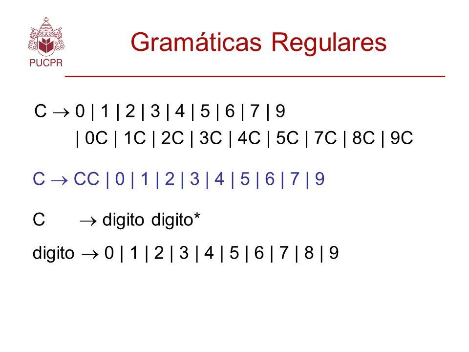 Gramáticas Regulares C  0 | 1 | 2 | 3 | 4 | 5 | 6 | 7 | 9