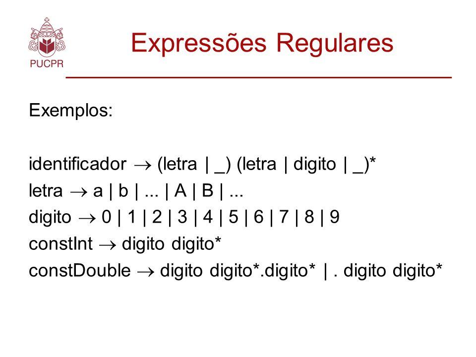 Expressões Regulares Exemplos: