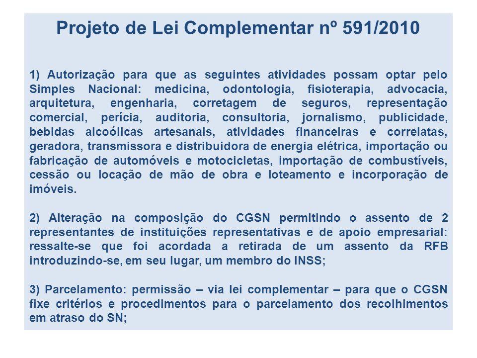 Projeto de Lei Complementar nº 591/2010
