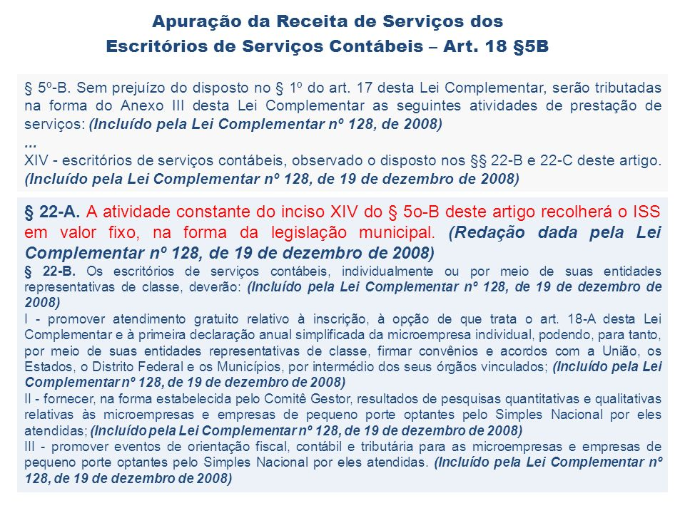 Apuração da Receita de Serviços dos