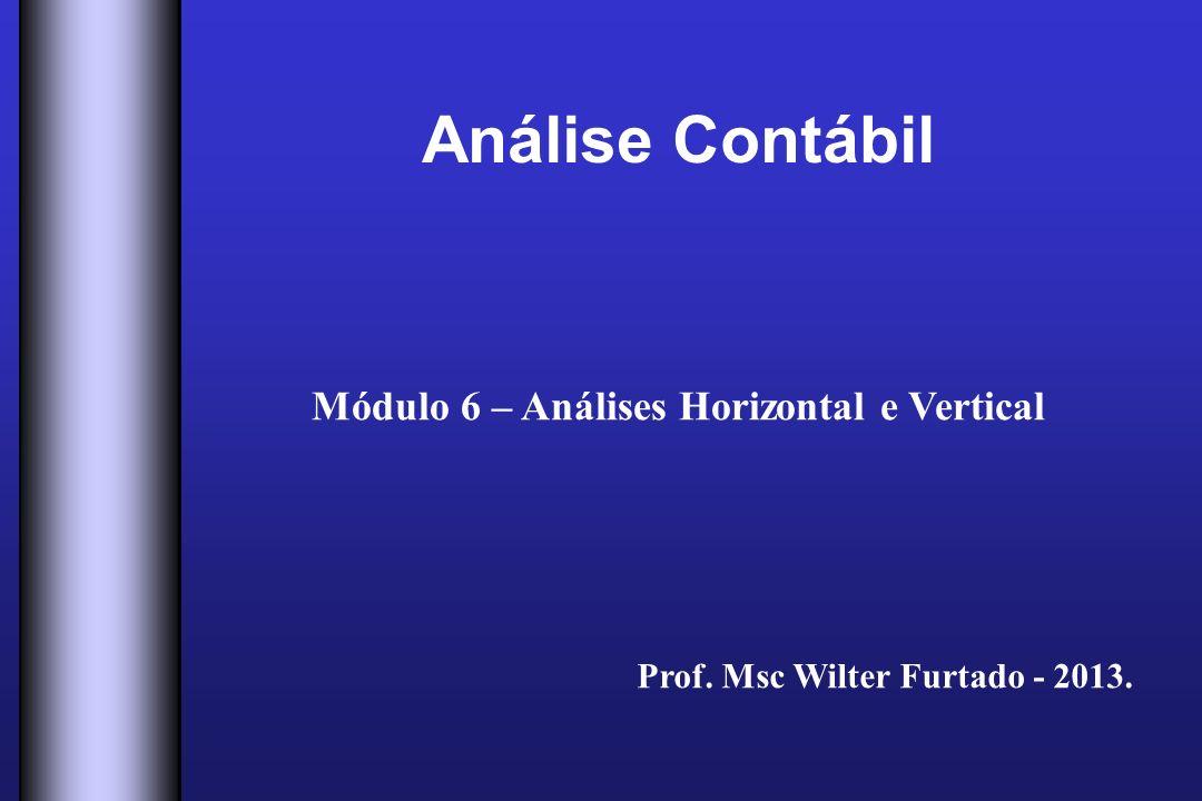 Análise Contábil Módulo 6 – Análises Horizontal e Vertical