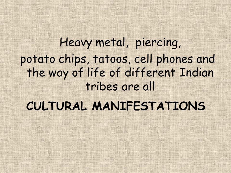 CULTURAL MANIFESTATIONS