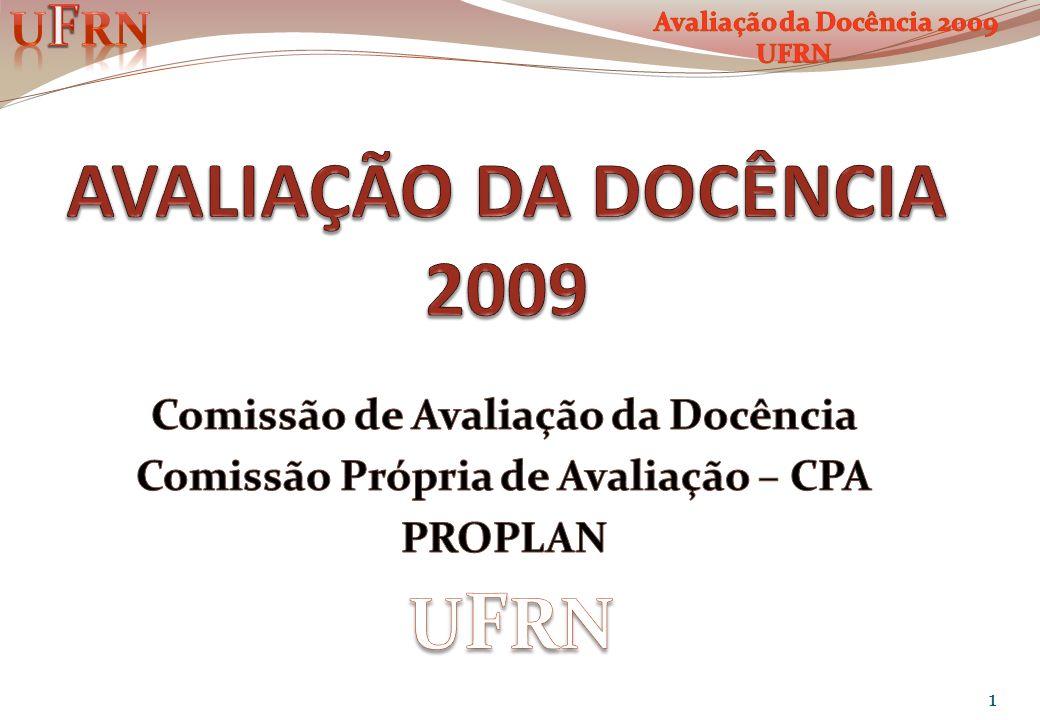 Comissão de Avaliação da Docência Comissão Própria de Avaliação – CPA