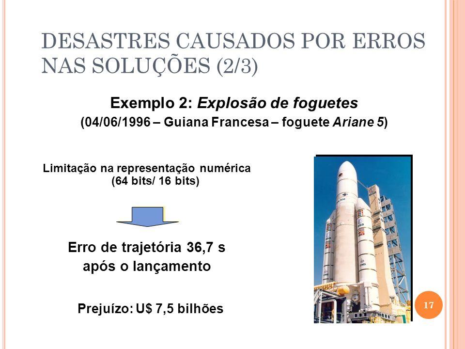 DESASTRES CAUSADOS POR ERROS NAS SOLUÇÕES (2/3)